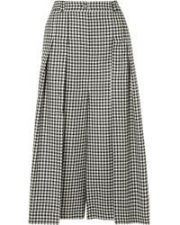 McQ Alexander McQueen | Atami Pleated Gingham Wool-twill Wide-leg Trousers | Lyst