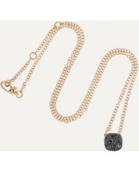 Pomellato Nudo 18-karat Rose Gold Diamond Necklace - Metallic