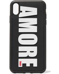 Dolce & Gabbana Amore Iphone Xs Max-hülle Aus Pvc Mit Prägung - Schwarz