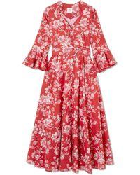 Gül Hürgel   Rita Belted Floral-print Cotton Dress   Lyst