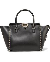 Valentino - Garavani The Rockstud Leather Tote - Lyst