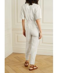 Apiece Apart Zeolight Linen And Cotton-blend Twill Jumpsuit - Natural
