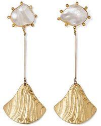 Peet Dullaert - Baha Vergoldete Ohrringe Mit Perlen - Lyst