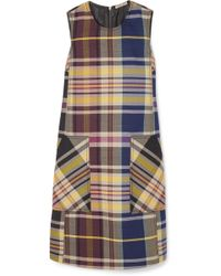 Bottega Veneta - Checked Wool Dress - Lyst