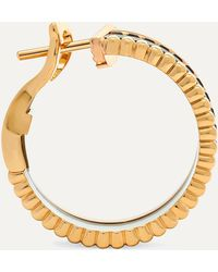 Boucheron Quatre Classique 18-karat Yellow, Rose And White Gold Diamond Hoop Earrings - Metallic
