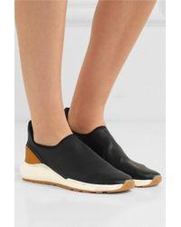 Vince Marlon Leather Slip-on Sneakers - Black