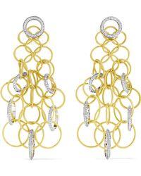 Buccellati - Hawaii 18-karat Yellow And White Gold Diamond Earrings - Lyst