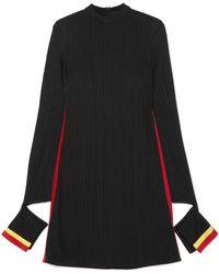 Ellery - Dada Cutout Striped Ribbed Jersey Mini Dress - Lyst