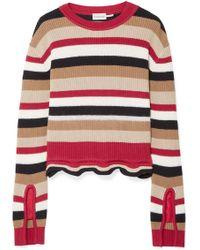 Moncler - Striped Cotton Jumper - Lyst