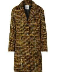 Koche Taylor Oversized Tweed Coat - Yellow