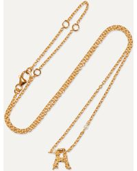 Pacharee Mini Alphabet Gold-plated Pearl Necklace - Metallic