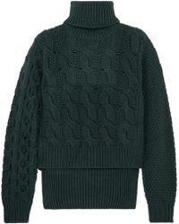 MM6 by Maison Martin Margiela - Cable-knit Wool-blend Sweater - Lyst