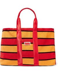Solid & Striped - The Thea Reversible Shell And Striped Cotton-blend Terry Tote - Lyst