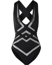 OYE Swimwear Bane Tulle-trimmed Swimsuit - Black