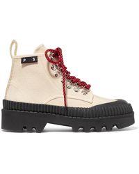 Proenza Schouler - Cotton-canvas Ankle Boots - Lyst