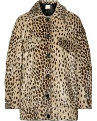 By Malene Birger - Tidara Oversized Leopard-print Faux Calf Hair Bomber Jacket - Lyst