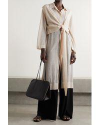 LE 17 SEPTEMBRE Cotton-blend Cardigan And Vest Set - Natural