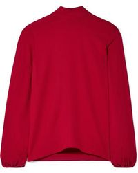 Theory Silk-crepe Top - Red