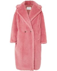 Max Mara - Oversized Faux Fur Coat - Lyst