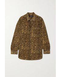 Junya Watanabe Leopard-print Voile Shirt - Brown