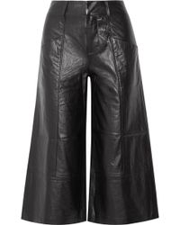 FRAME - Leather Culottes - Lyst