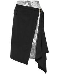 Monse - Sequin Embellished Wrap Skirt - Lyst