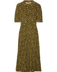 Veronica Beard - Pike Floral-print Silk Crepe De Chine Midi Dress - Lyst