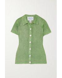 Calle Del Mar Ribbed-knit Shirt - Green