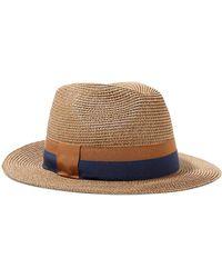 Eres Leone Grosgrain-trimmed Woven Paper Hat - Brown