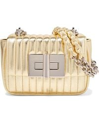 0d94adc0b5 Tom Ford - Natalia Mini Metallic Quilted Leather Shoulder Bag - Lyst