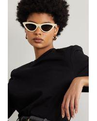 Celine Sonnenbrille Mit Cat-eye-rahmen Aus Azetat - Weiß
