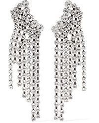 Isabel Marant Silver-tone Crystal Earrings - Metallic