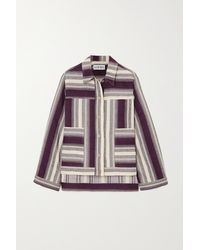 Loewe Striped Linen And Cotton-blend Jacket - Multicolour