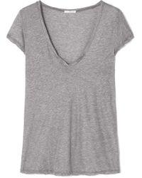 James Perse - Mélange Cotton-jersey T-shirt - Lyst