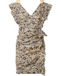 Étoile Isabel Marant - Topaz Ruffled Printed Linen Mini Dress - Lyst