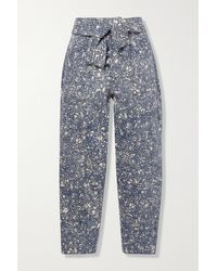 Ulla Johnson - Otto Printed High-rise Tapered Jeans - Lyst