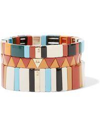 Roxanne Assoulin - Canyon Set Of Three Enamel Bracelets - Lyst