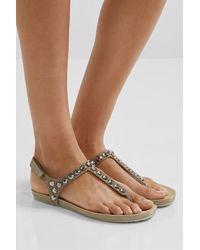 Pedro Garcia Judith Crystal-embellished Suede Slingback Sandals - Multicolour