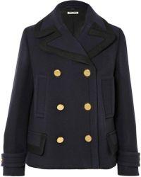 Miu Miu   Double-breasted Wool Coat   Lyst