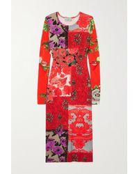 Preen By Thornton Bregazzi Gretal Floral-print Stretch-crepe Dress - Red