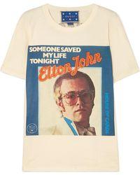 Gucci - Elton John Printed Cotton-jersey T-shirt - Lyst