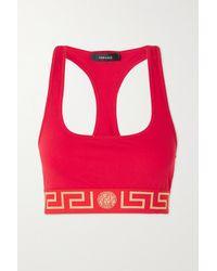 Versace Soft-bh Aus Stretch-baumwoll-jersey - Rot