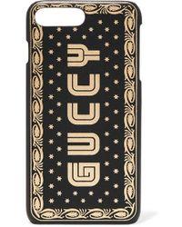 Gucci Guccy Print Iphone 7/8 In Sega® Font - Black