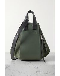 Loewe Hammock Small Leather And Suede Shoulder Bag - Green