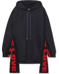 Stella McCartney   Oversized Paneled Cotton-blend Jersey Hooded Top   Lyst