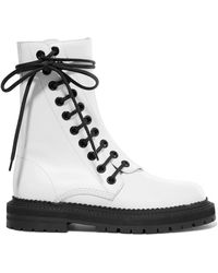 Burberry - Lace-up Leather Ankle Boots - Lyst