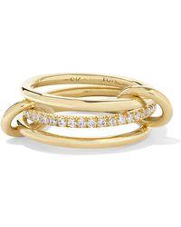 Spinelli Kilcollin - Set Of Three 18-karat Gold Diamond Rings Gold 8 - Lyst