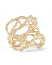 Jennifer Fisher Lace Up Gold-plated Ring - Metallic