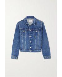 Agolde Vivian Denim Jacket In Clarity - Blue
