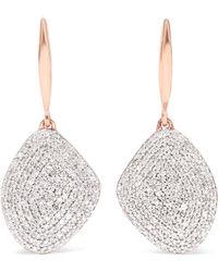 Monica Vinader - Nura Rose Gold Vermeil Diamond Earrings - Lyst